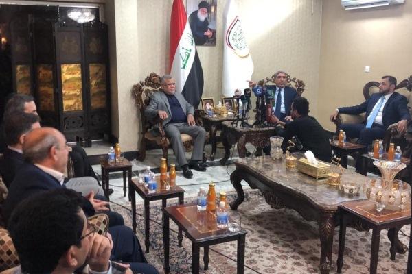 اجتماع قادة تحالف سائرون بزعامة الصدر وتحالف الفتح بقيادة العامري