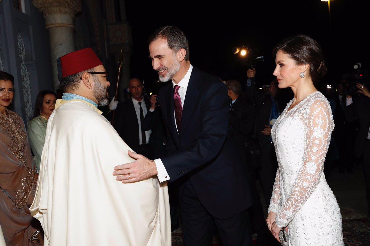 العاهل المغربي مستقبلا ملك اسبانيا