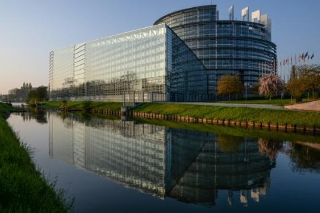 مقر البرلمان الأوروبي في ستراسبورغ (فرنسا) في 05 نيسان/ابريل 2017
