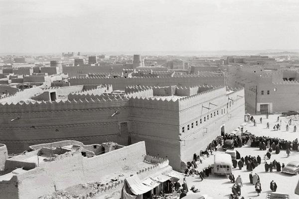 قصر خريمس في الرياض وهو قصر الضيافة عام 1949م