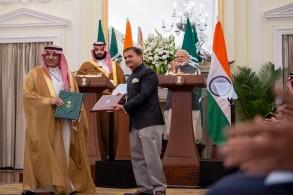 ولي العهد السعودي ورئيس وزراء الهند يشهدان توقيع اتفاقيات تعاون بين البلدين
