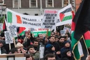 مظاهرة مؤيدة للفلسطينيين في دبلن (أرشيف)