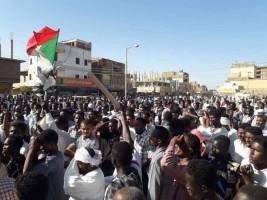 تظاهرات في الخرطوم - صورة من تويتر