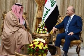 الرئيس صالح خلال اجتماعه مع الروضان وزير التجارة والصناعة الكويتي