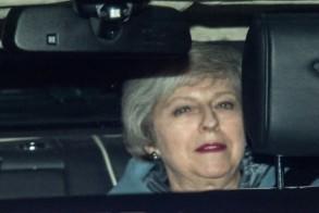 رئيسة الوزراء البريطانية تيريزا ماي في لندن في 14 فبراير 2019