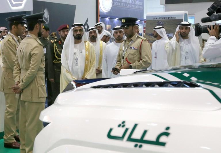 الشيخ محمد بن راشد في افتتاح معرض الدفاع الدولي