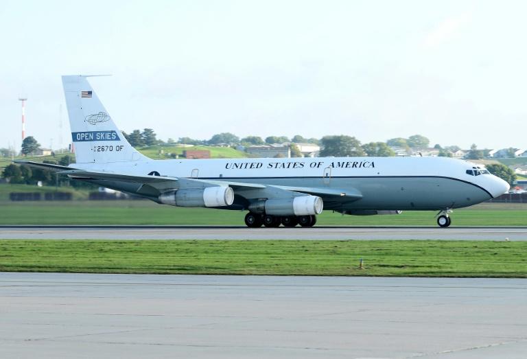 صورة وزّعها سلاح الجو الأميركي لطائرة المراقبة