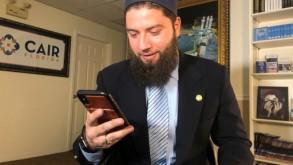 المحامي حسن شلبي وكيل الجهادية هدى المثنّى في مكتبه في تامبا بولاية فلوريدا في 20 شباط/فبراير 2019. ا ف ب/ا ف ب