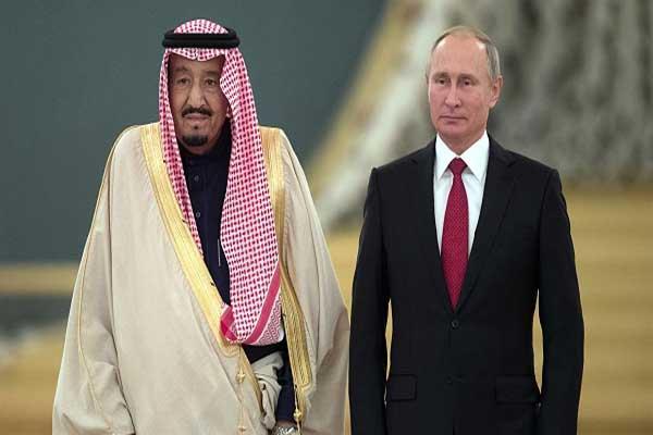 الرئيس الروسي فلاديمير بوتين والملك سلمان خلال لقاء سابق
