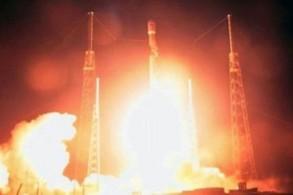 صورة عن شريط فيديو لانطلاق الصاروخ الذي يحمل المركبة الإسرائيلية