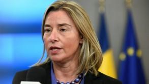 وزيرة خارجية الاتحاد الاوروبي فيديريكا موغيريني تتحدث للصحافيين في بروكسل في 18 شباط/فبراير 2019 ا ف ب