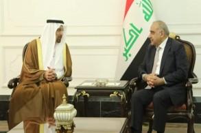 عبد المهدي مجتمعا مع وزير الطاقة والصناعة والثروة المعدنية السعودي خالد الفالح- ارشيفية