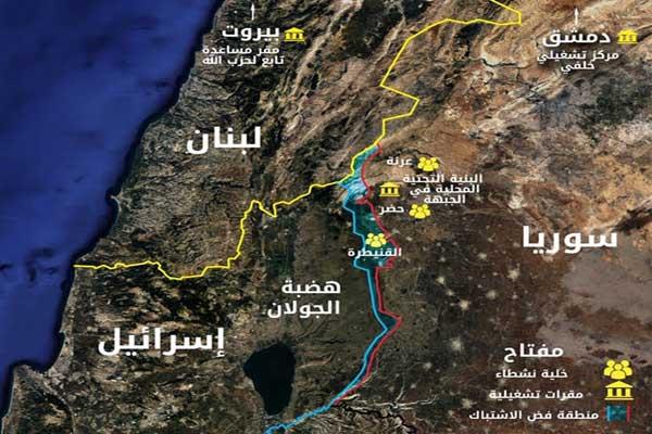 مواقع استحدثها حزب الله ضمن مخططه للعمل في الجولان