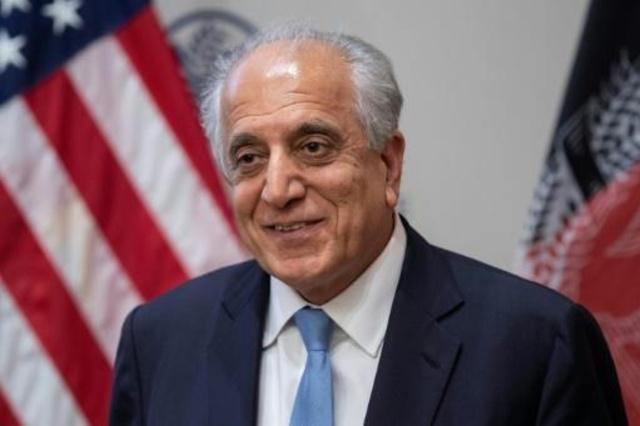 الموفد الأميركي الخاص إلى أفغانستان زلماي خليل زاد في واشنطن في 8 شباط/فبراير 2019