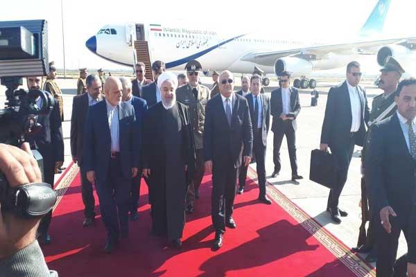 روحاني لدى وصوله الى بغداد