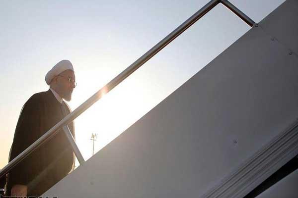 روحاني مغادرًا النجف وعائدًا إلى طهران في ختام زيارته الرسمية إلى العراق