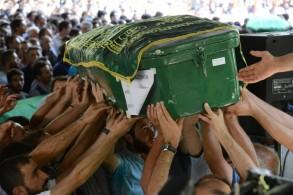 تشييع ضحايا التفجير الانتحاري الذي استهدف زفافا كرديا في غازي عنتاب