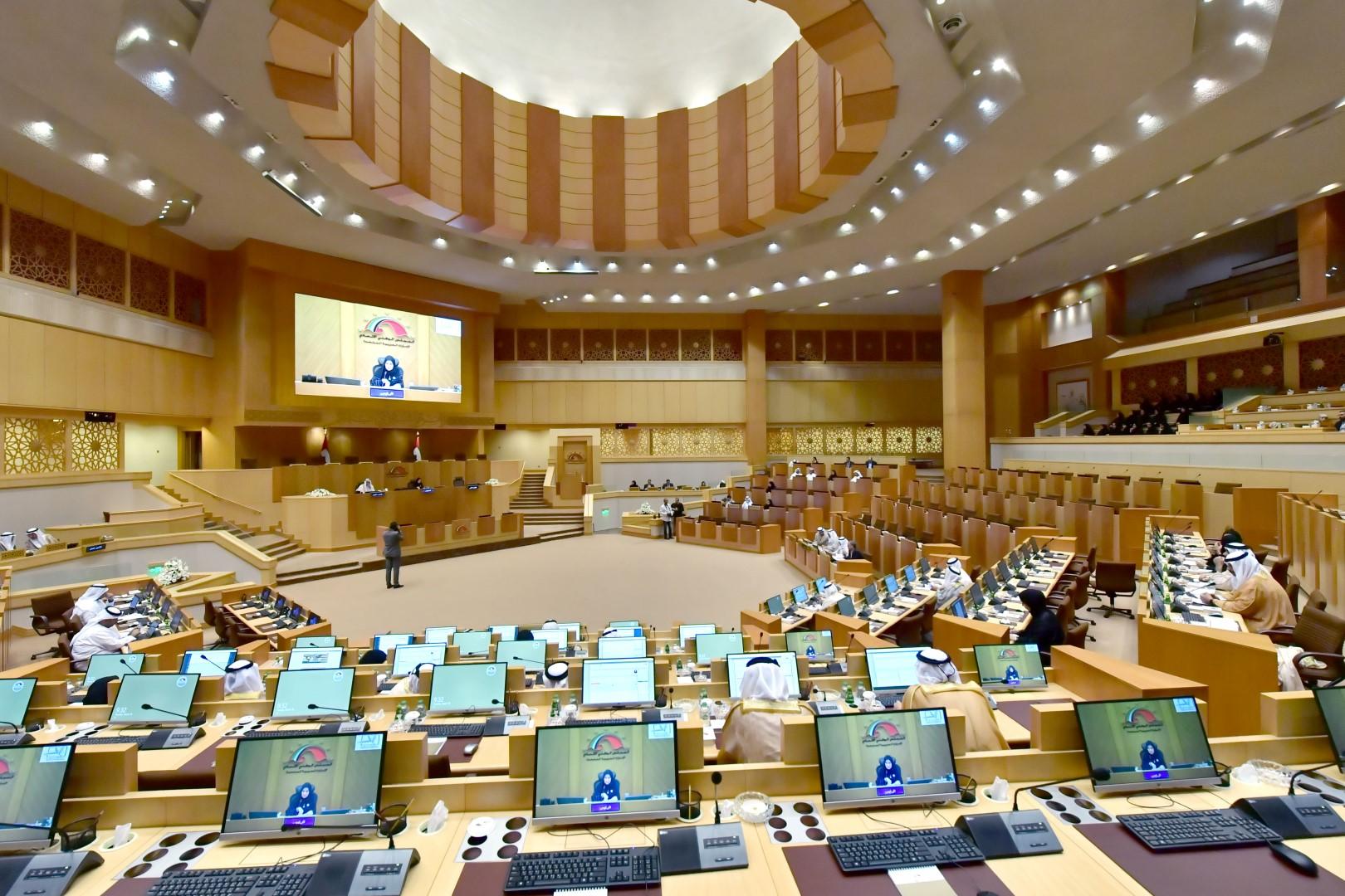 من جلسة البرلمان الإماراتي يوم الثلاثاء - صورة لـ