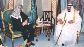 الملك فهد مستقبلا الرئيس الراحل ياسر عرفات - أرشيفية