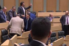 مشاجرة في مجلس النواب الأردني