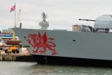 المدمرة البريطانية (HMS Dragon) في بيروت الإثنين