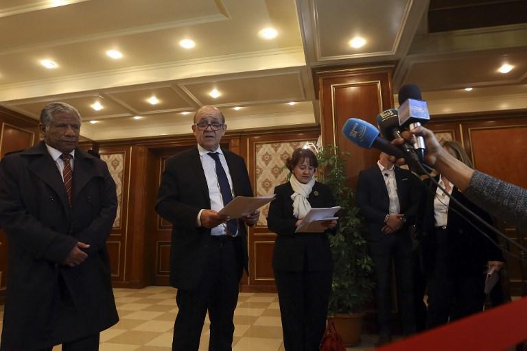 وزير الخارجية الفرنسي جان-إيف لودريان في طرابلس