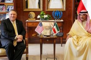 وزير الخارجية الكويتي مستقبلا نظيره الأميركي