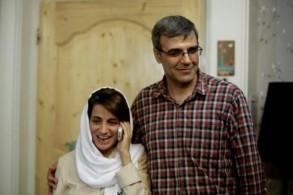 المحامية نسرين سوتوده وزوجها رضى خاندان في منزلهما بطهران في 18 ايلول/سبتمبر 2013