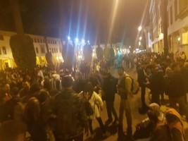 جانب من تظاهرات المدرسين في الرباط