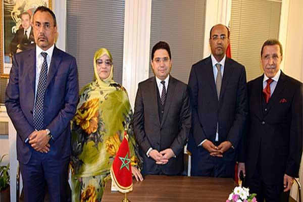 الوفد المغربي برئاسة ناصر بوريطة وزير الخارجية والتعاون الدولي