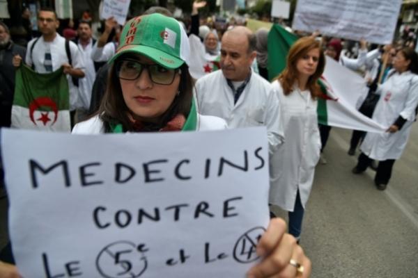 تظاهرة للقطاع الطبي في العاصمة الجزائرية في 19 مارس 2019
