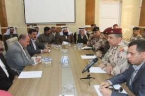 رئيس الأركان العراقي مجتمعًا مع الفعاليات العسكرية والرسمية والعشائرية والمدنية في سنجار