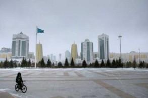 صورة من الأرشيف لعاصمة كازاخستان أستانة كما تبدو من القصر الرئاسي عام 2015
