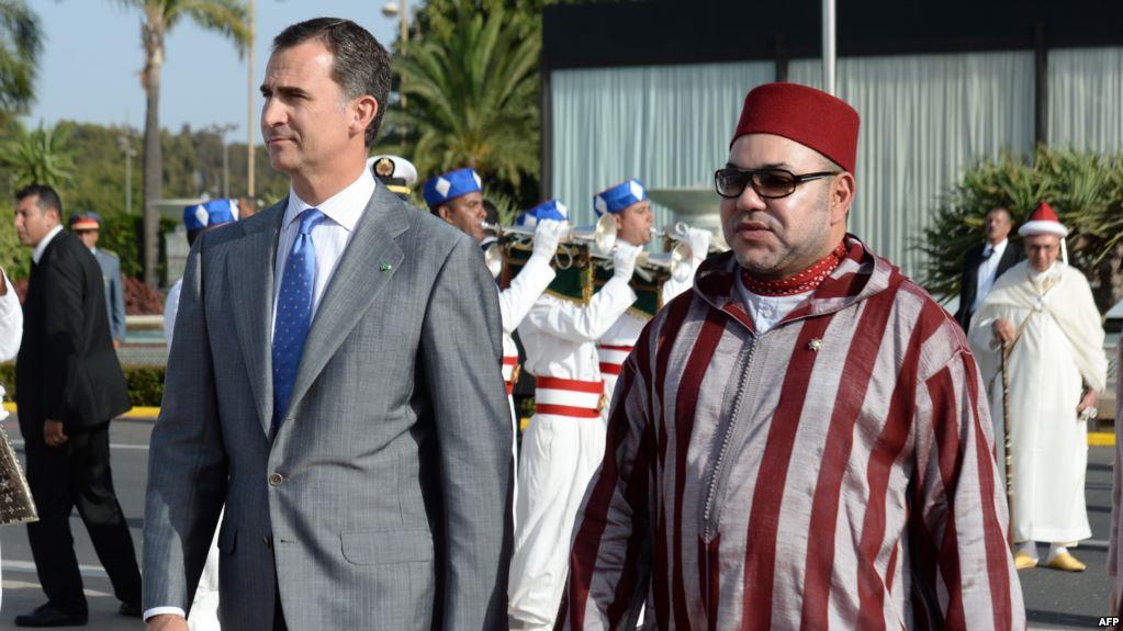 الملك محمد السادس وعاهل اسبانيا فيليبي السادس