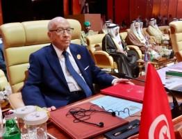الرئيس التونسي الباجي قايد السبسي خلال مشاركته في القمة العربية 29