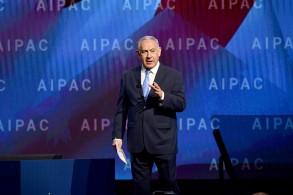 نتانياهو خلال مشاركته في مؤتمر ايباك السنوي في العام 2018