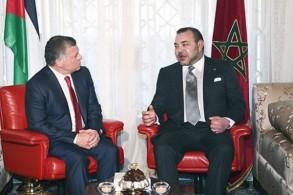 العاهلان المغرب والأردني