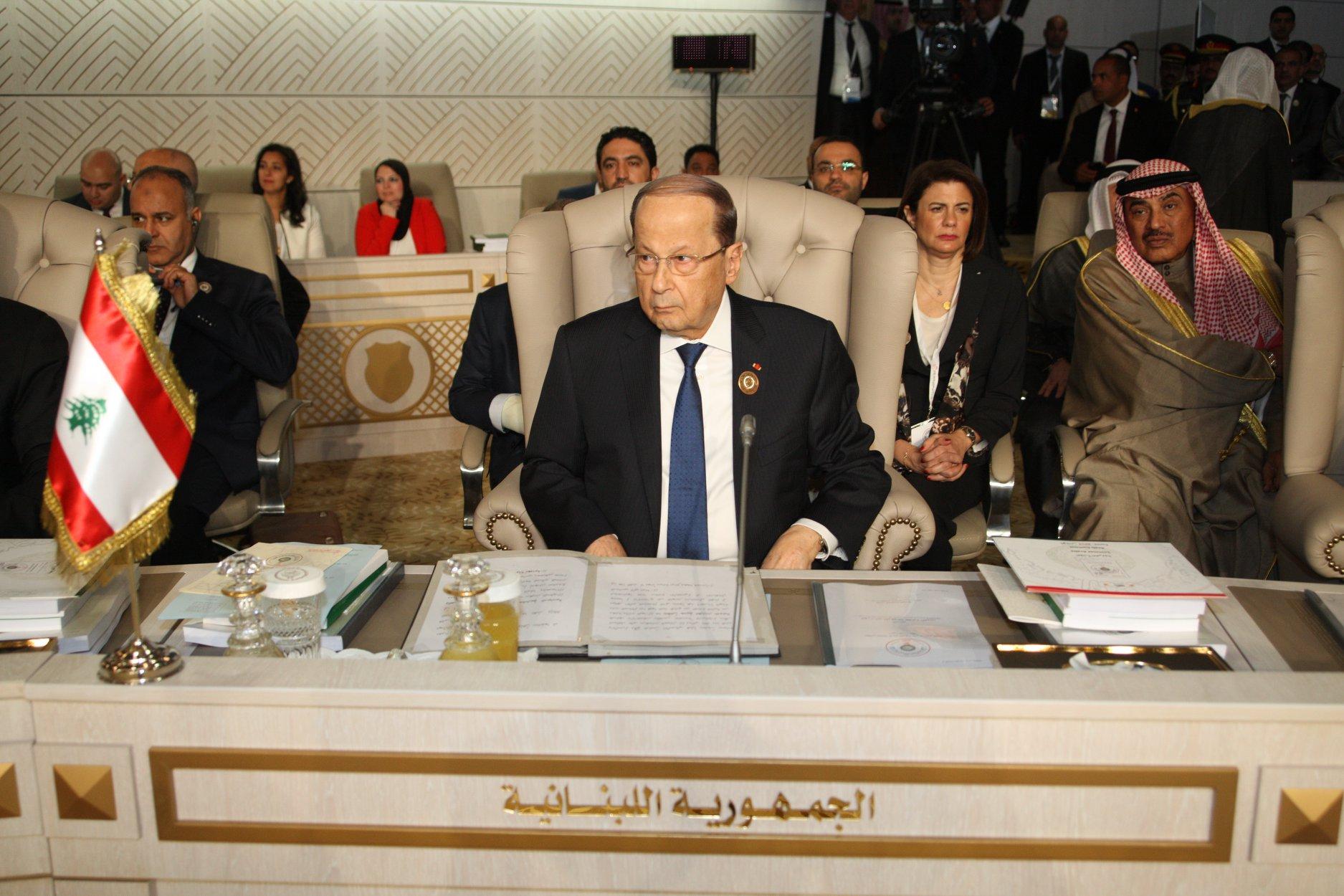 ميشال عون مشاركا في القمة العربية