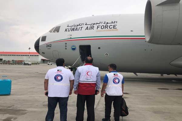 طائرة إغاثة كويتية تصل إلى إيران