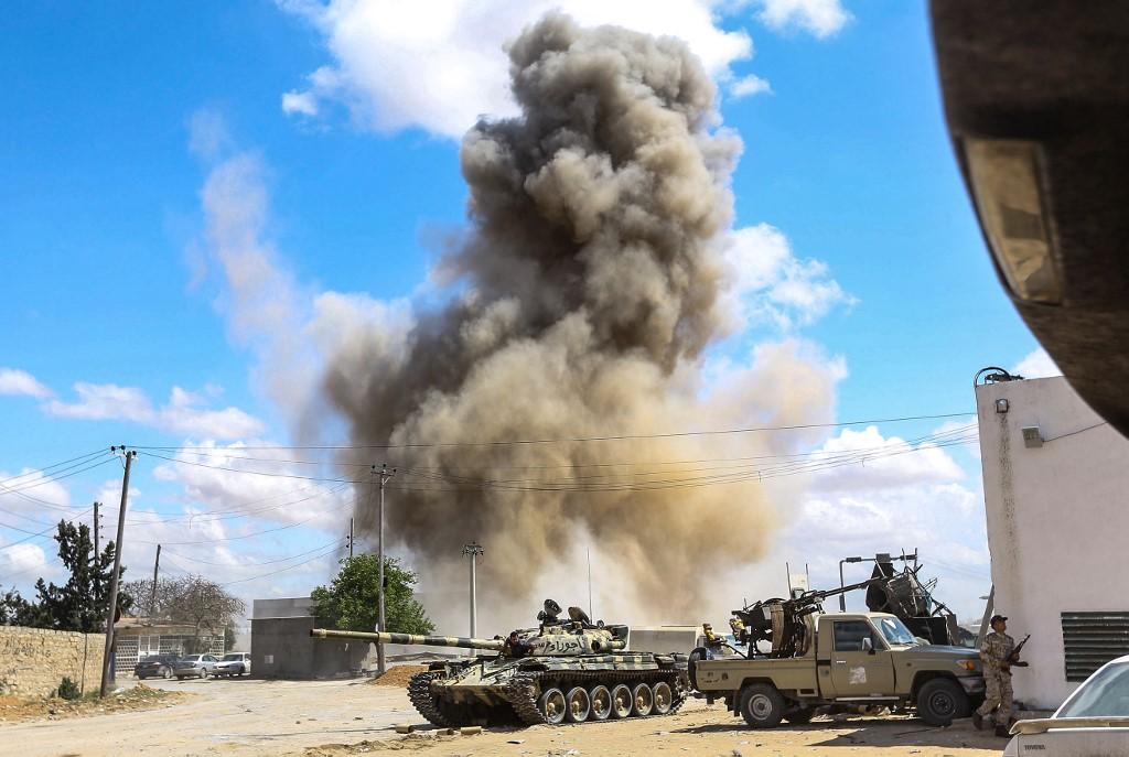 جانب من المعارك على تخوم طرابلس