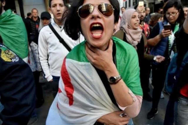 تظاهرة ضد النظام في الجزائر العاصمة في 14 بريل 2019