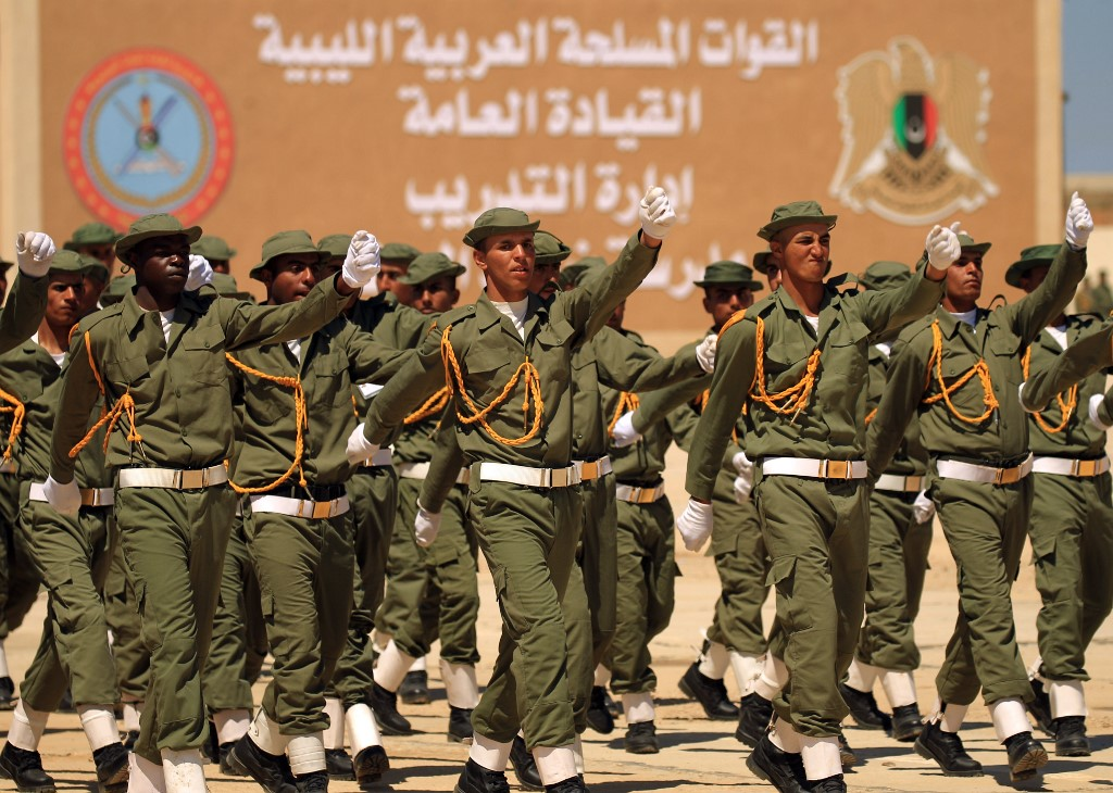 قوات تابعة للمشير حفتر في بنغازي