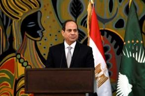 الرئيس المصري عبد الفتاح السيسي خلال زيارة رسمية إلى دكار في 12 إبريل 2019