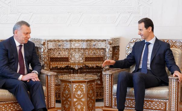 الاسد مستقبلا يوم السبت مساعد رئيس الوزراء الروسي