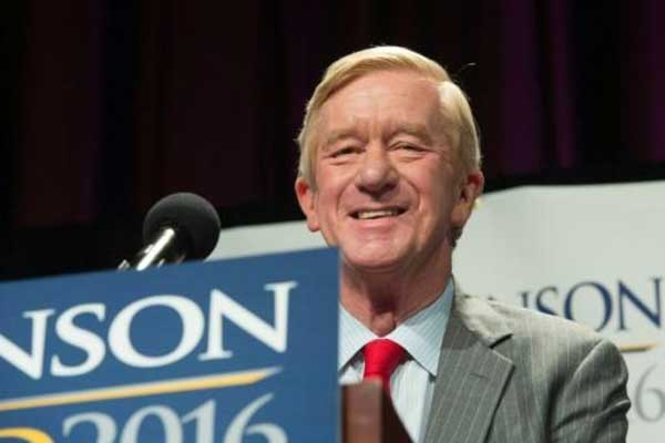 وليام (بيل) ويلد مرشح الحزب الليبرالي لمنصب نائب الرئيس في نيويورك 10 سبتمبر 2016