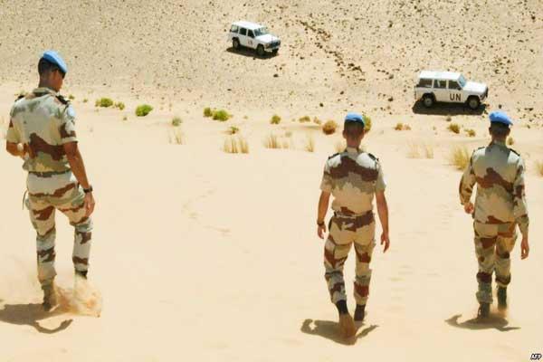 أفراد من بعثة مينورسو الأممية في الصحراء