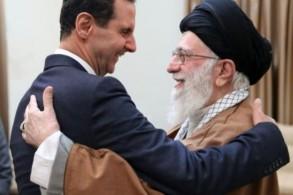صورة وزعها مكتب المرشد الأعلى للجمهورية الإسلامية في 25 شباط/فبراير 2019 ويظهر فيها علي خامنئي مع الرئيس السوري بشار الأسد في طهران