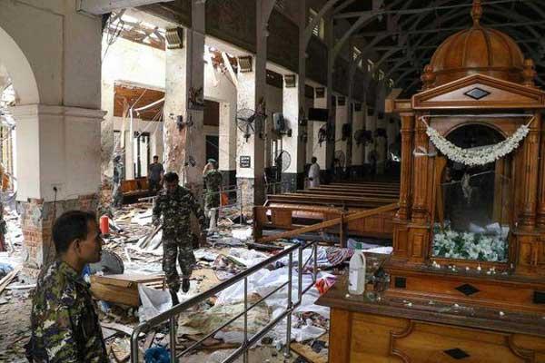 إحدى الكنائس التي امتدت إليها يد الإرهاب في سري لانكا