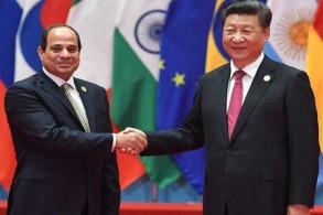 الرئيس الصيني مستقبلًا نظيره المصري في بكين