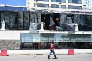 أثار الدمار في العاصمة الكولومبية اثر الاعتداءات